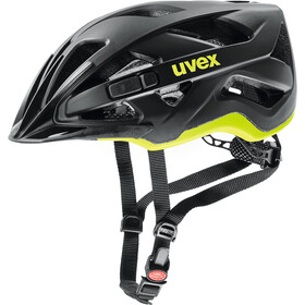UVEX Active CC Fietshelm, black/yellow matt